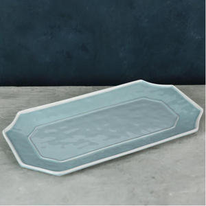 Beatriz Ball VIDA Charleston Blue Long Rectangular Platter  - LARGE