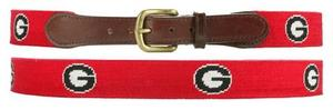 University of Georgia Needlepoint Belt