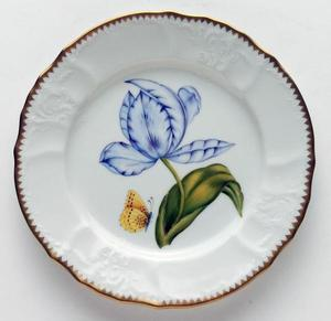 Old Master Tulips ~ Purple & Blue Tulip Salad Plate by Anna Weatherley