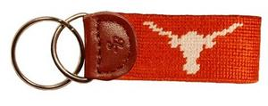 University of Texas Needlepoint Key Fob