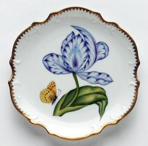 Anna Weatherley Purple & Blue Tulip Bread & Butter Plate