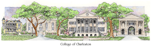 Patsy Gullett College of Charleston Sculptured Watercolor