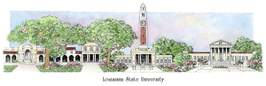 Patsy Gullett Louisiana State University Sculptured Watercolor