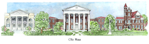 Patsy Gullett Ole Miss Sculptured Watercolor