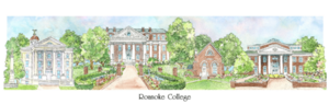 Patsy Gullett Roanoke College Sculptured Watercolor