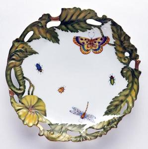 Garden Party ~ Pierced Plate by Anna Weatherley