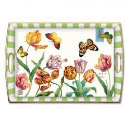 Tulips Decoupage Wooden Tray