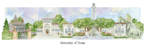 Patsy Gullett University of Texas Sculptured Watercolor