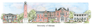 Patsy Gullett University of Alabama Sculptured Watercolor