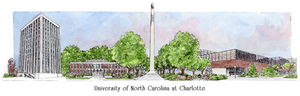 Patsy Gullett UNC-Charlotte Sculptured Watercolor