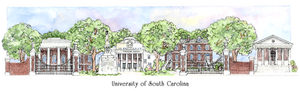 Patsy Gullett University of South Carolina Sculptured Watercolor
