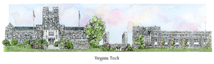 Patsy Gullett Virginia Tech Sculptured Watercolor