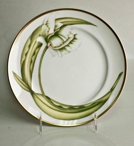 White Tulips ~ Salad/Dessert Plate by Anna Weatherley