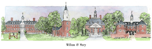 Patsy Gullett William and Mary Sculptured Watercolor
