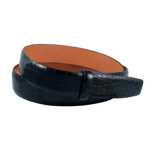 Alligator Embossed Leather 1 3/16 Inch Belt Strap