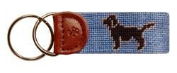 Smathers and Branson Black Lab Needlepoint Key Fob
