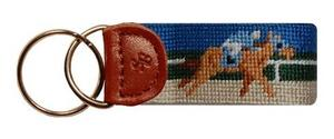 Smathers and Branson Derby Needlepoint Key Fob
