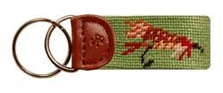 Smathers and Branson Fishing Fly Needlepoint Key Fob