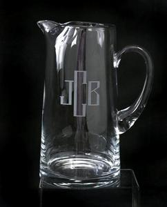 Monogrammed Glassware Pitcher