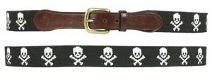 Smathers and Branson Jolly Rodger Needlepoint Belt