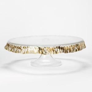 Rufolo Glass Gold Cake Stand