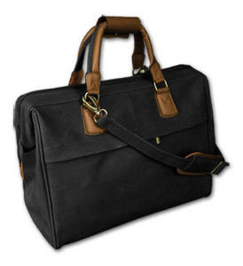 Bellemonde Travel City Bag- Black/Brown Trim