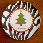 Melamine Holiday Plate