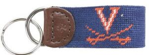 UVA Needlepoint Key Fob
