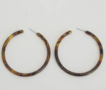 Large Tortoise Shell Hoop