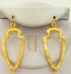 Handcast Gold Cutout Earrings