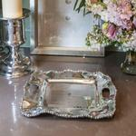 Beatriz Ball Organic Pearl Kristi Square Tray with Handles (small)