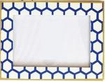 Dana Gibson Mesh Blue Picture Frame