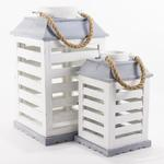 Small and Medium Terrah Lanterns in White/Gray