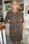 Brown and Camel Pattern Dress - SA Final Sale - No Returns