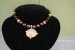 Handcast Gold Bee Intaglio Chocolate Pearl Necklace