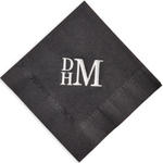 Stacked Monogram Foil Stamped Napkins
