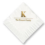 Initial & Name Foil-Stamped Napkins