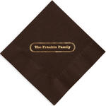 Family Foil Stamped Napkins