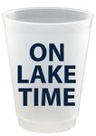 On Lake Time plastic cups