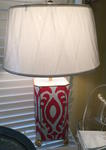 Hand Painted Lamp-Coral
