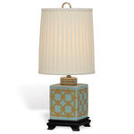 Port 68 Lamp - Gold & Turquoise