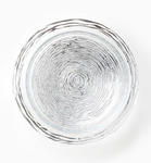 Ruffle Glass Platinum Stripe Serving Bowl