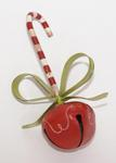 Peppermint Cane Jingle Bell Ornament