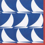 Sail Away Navy Beverage Napkin
