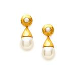 Julie Vos:   Savannah Pearl Drop Earring