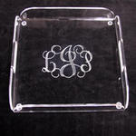 Monogrammed Square Tray