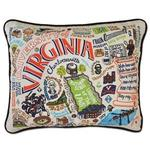 UVA Embroidered Pillow