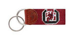University of South Carolina Needlepoint Key Fob