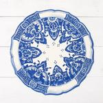 China Blue Die-Cut Placemat Sheets