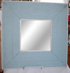 Blue Wooden Mirror